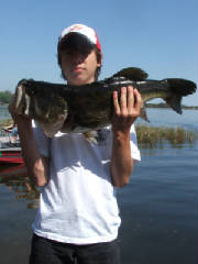 14 yr. old catches Trophy Bass