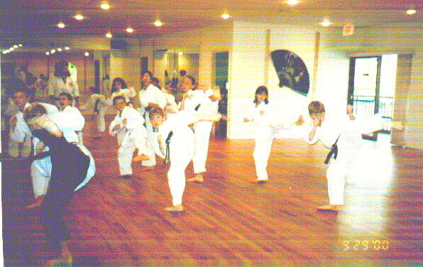 youth class at the Dojo